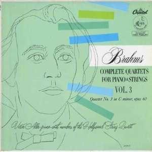 Complete Quartets For Piano & Strings, Vol. 3 Brahms