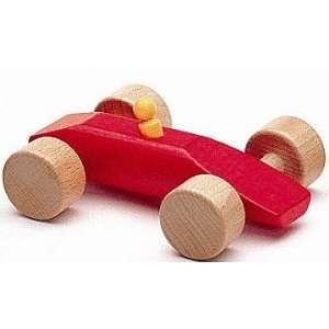 NIC Wooden Toys   Red Wooden Race Car Speedy: Toys & Games