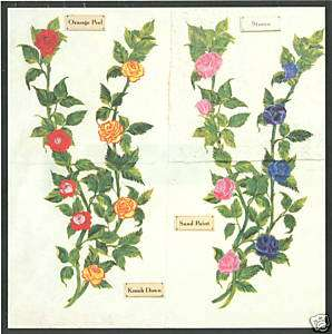 ROSES & ROSE VINES WALL STICKERS DECOR ART TRANSFERS