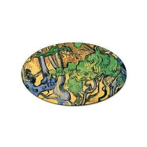 Tree Roots and Trunks By Vincent Van Gogh Oval Sticker