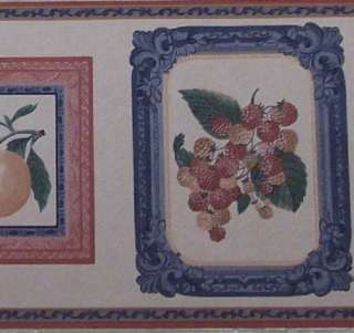 Country Wallpaper Border Kitchen Fruit Cherries Pears