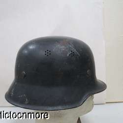WWII GERMAN AIR DEFENSE CIVIC CURVED DIP HELMET & LINER UNIFORM |