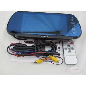 7 TFT LCD Color Screen Mirror Rearview Monitor For DVD