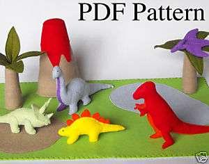 Pattern Felt Dinosaur Play Mat T Rex Brontosaurus Toy