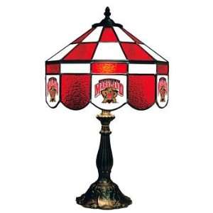 Maryland 14 NCAA Stained Glass Executive Table Lamp
