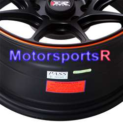 15 8.25 XXR 527 Black Orange Stripe Concave Rims Wheels Stance 84 86