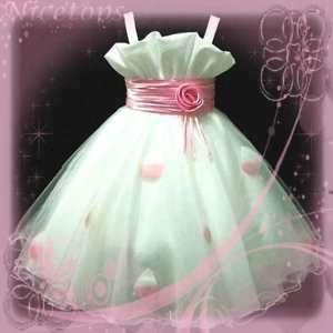 Pink Wedding Xmas Party Girl Dress SZ 2 3 4 5 6 7 8 10