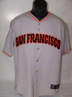 Majestic San Francisco Giants Sewn Grey Road Jersey