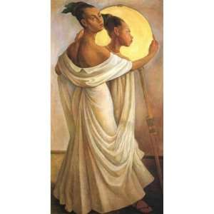 Oil Painting Portrait of Ruth Rivera Diego Rivera Hand Painted Art
