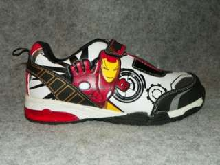 MARVEL IRON MAN II Youth Boys Sneakers Shoes 13 1 2 3