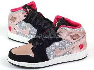 Air Jordan 1 Phat GS Black/Pink Cherry 2012 Valentines Day 364781 019