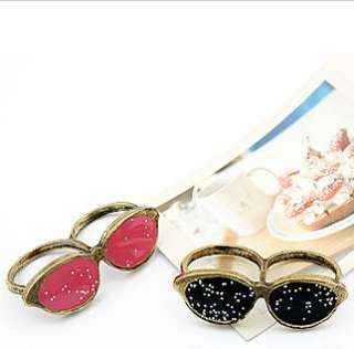 New Fashion Punk Style Unique Antique Sunglasses Double Fingers Ring