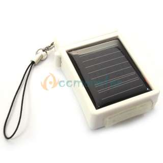 NEW White Lighter Shape Solar Power Charger 400mah for Iphone 3G 3Gs