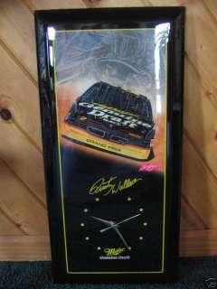 MILLER GENUINE DRAFT BEER / RUSTY WALLACE NASCAR CLOCK