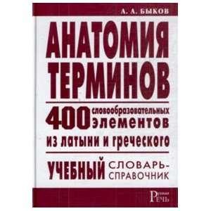 Anatomy terms 400 word E Anatomiya terminov 400 slovoobrazovatelnykh