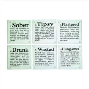 Drunk? Glass Coasters   Set of 6
