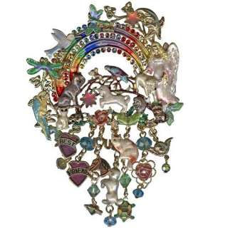 New Kirks Folly Pin Best Friends Rainbow Bridge Gold