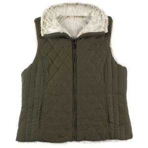 NWT WOMENS WEATHERPROOF FAUX FUR REVERSIBLE VEST DIFFERENT SIZES