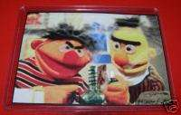 Stoned Bert and Ernie Smoking Pot Weed Bong Ganja Marijauna Funny