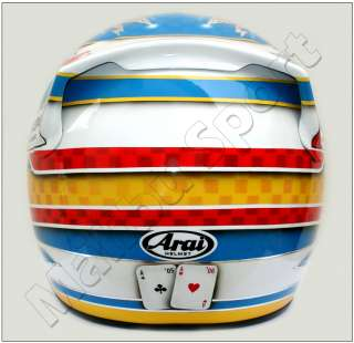 FERNANDO ALONSO F1 2008 REPLICA HELMET SCALE 11 NEW