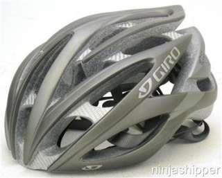 12 Giro ATMOS matte titanium Road Bicycle Helmet LARGE MSRP $180 New