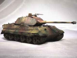 35 Built Weathered King Tiger Porche Turret German w Zimmerit