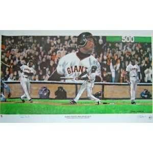 Barry Bonds San Francisco Giants 17x33 500 Home Run Autographed