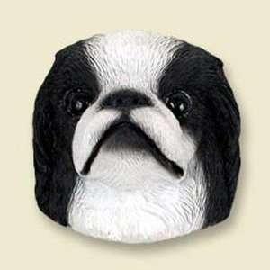Japanese Chin, Black/White Dog Head Magnet (2 in) Pet