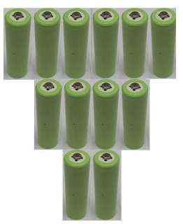 12x AA NiCd Rechargeable Batteries for Solar Light Lamp
