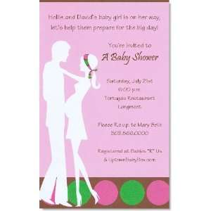 In Due Time Pink Baby Shower Invitations