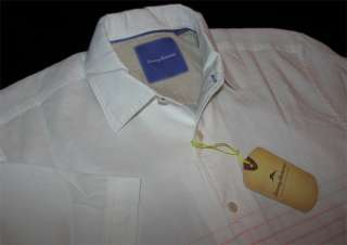 Tommy Bahama New T33641 Sunset View White 100% Linen Camp Shirt Large