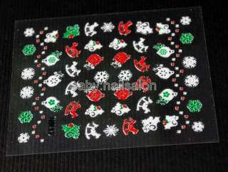 sale christmas Themed Stickers Easy Fast Nail Art Decals for Nail Art