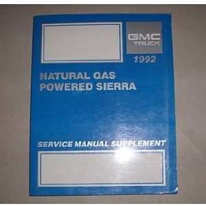 1992 GMC Sierra Truck Pick up Service Manual Supplement
