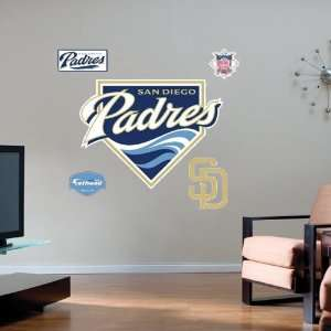 San Diego Padres Team Logo Fathead Wall Sticker Sports