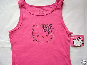 NWT Girls XL (12/14) Hello Kitty Pink Tropical Tank