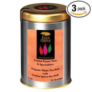 Eden Grove White Tea Spices For Fish, 5 Ounce Tins (Pack of 3)