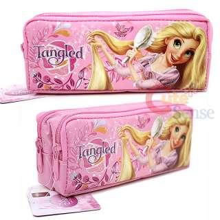 Disney Princess Tangled Rapunzel Pencil Case / Pink 2 Zippered