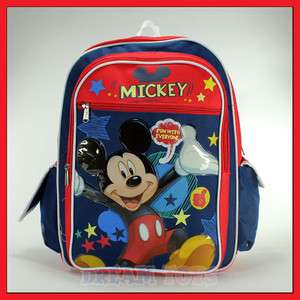 Disney Mickey Mouse Fun 16 Backpack   Book Bag School Boys