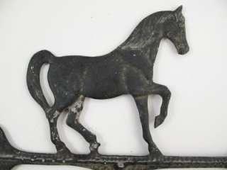 ANTIQUE PRIMITIVE VINTAGE ALUMINUM HORSE WEATHERVANE Estate Sale Find