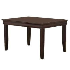 Solid Wood Fancy Dining Table Dark Brown/60 in: Furniture