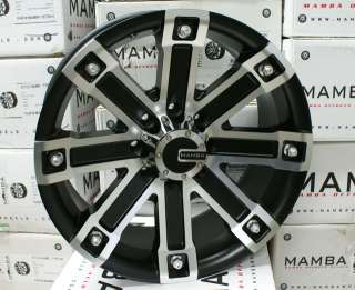 22 x 9.5 Mamba Ford F250 F350 Black Wheels Rims 8x170