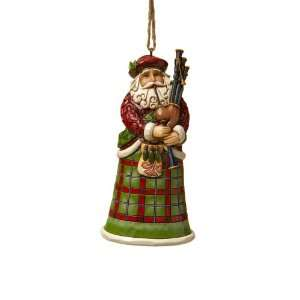 Jim Shore Heartwood Creek from Enesco Scottish Santa Christmas 4.75 IN