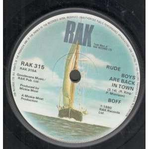 RUDE BOYS ARE BACK IN TOWN 7 INCH (7 VINYL 45) UK RAK