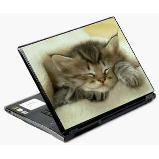 15.4 Univerval Laptop Skin Decal Cover   Sleeping Kitten