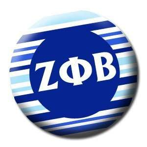 ZETA PHI BETA Striped 1.25 MAGNET: Everything Else
