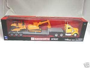 KENWORTH W900 SEMI TRUCK & TRAILER W/ LOWBOY 1/43 15273