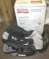 2011 Britax Chaperone Carrier Infant Baby Car Seat Black & Silver