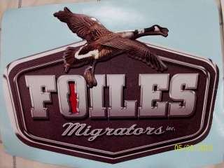 FOILES DUCK&GOOSE CALLS CHROME WINDOW LOGO DECAL
