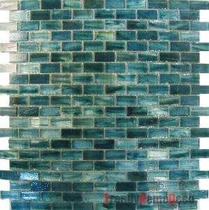 blue recycle glass mosaic tile backsplash kitchen wall sink bath