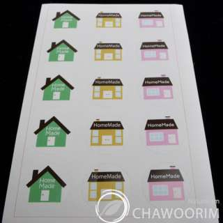75pcs(5Sheet) Homemade 3Type Stickers Packing Material/Gift wrap Size2